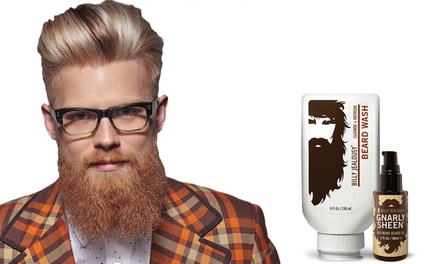 Billy Jealousy Beard Wash and Gnarly Sheen Refining Beard Oil