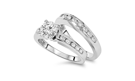 2.00 CTTW Diamond Bridal Set in 14K Gold - by Bliss Diamond