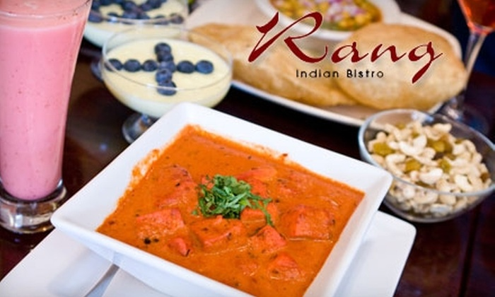 Rang Indian Bistro - Stoneham: $15 for $30 Worth of Indian Cuisine at Rang Indian Bistro in Stoneham