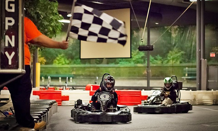 Grand Prix New York - Valhalla: IndoorGo-Karting and Arcade Package with Two Races for a Child, Teen, or Adult(Up to46%Off)