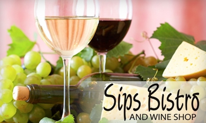 Sips Bistro & Wine Shop - Modesto: $8 for $16 Worth of Lunch Fare and Drinks (or $15 for $30 Worth of Dinner Fare and Drinks) at Sips Bistro and Wine Shop