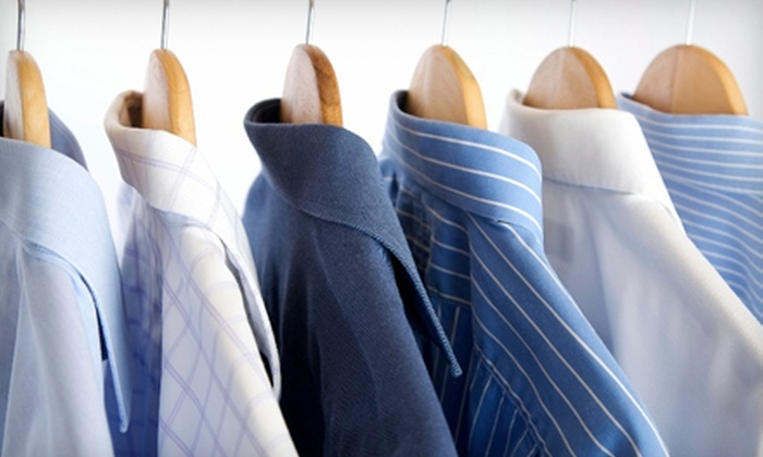 Green Apple Cleaners - Multiple Locations: Eco-Friendly Dry Cleaning from Green Apple Cleaners (Up to 55% Off). Two Options Available.