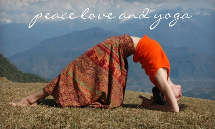 Peace Love and Yoga Studio - Carlsbad: $49 for 10 Drop-In Classes at Peace Love and Yoga Studio in Carlsbad