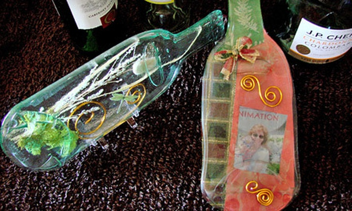 Gallery's Choice - Downers Grove: Decorative Wine-Bottle Art Class for One or Two at Gallery's Choice in Downers Grove