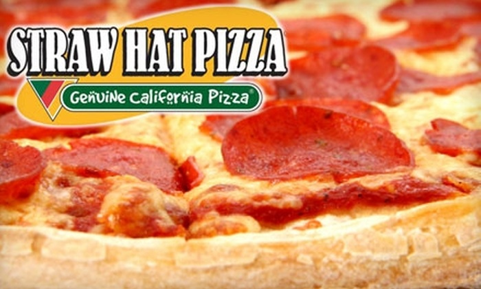 Straw Hat Pizza - Lakeview: $8 for a 15-Inch Six-Cheese or One-Topping Pizza at Straw Hat Pizza