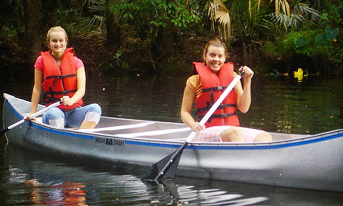 Cracker Creek Canoeing - Port Orange: Two-Hour Canoeing or Kayaking Trip for Two or Four from Cracker Creek Canoeing (Up to Half Off)