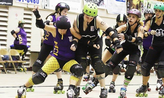 Tragic City Rollers - Irondale: $15 for Tragic City Rollers Roller-Derby Bout for Two at Zamora Shrine Temple on Saturday, June 7 (Up to $30 Value)