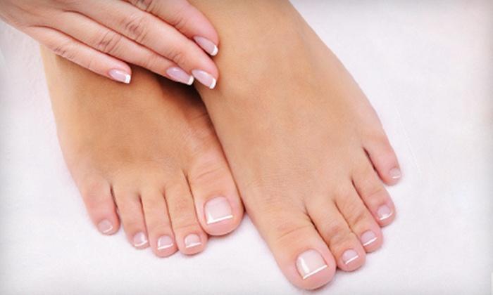 City Nails - City Nails: One Mani-Pedi or Three Mani-Pedis with Hot-Towel Massages at City Nails (Up to 67% Off)