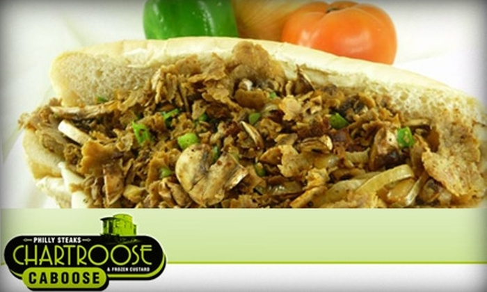 Chartroose Caboose - Greystone South Plaza: $15 Worth of Cheesesteaks and More at Chartroose Caboose Lenexa