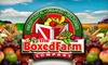 The Boxed Farm Company: $25 for a Box of Fresh Produce and More Plus Delivery from The Boxed Farm Company ($50 Value)