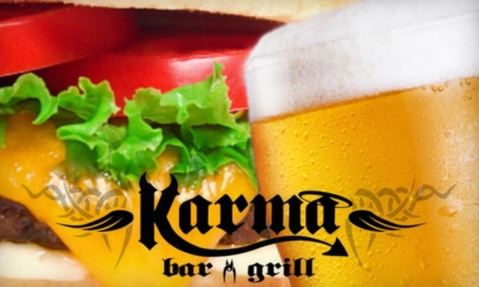Karma Bar and Grill - Lower East Side: $15 for $30 Worth of Classic American Fare and Drinks at Karma Bar and Grill