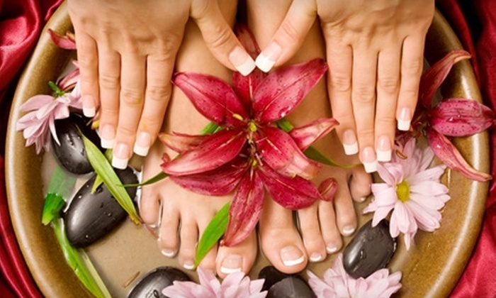 Beauty Innovations Ltd. - Palmer: $35 for a Hot-Stone Pedicure and Manicure With Optional Shellac at Beauty Innovations Ltd. in Easton (Up to $79 Value)