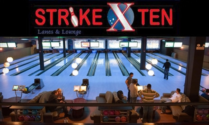 Strike Ten Lanes - Roselle: $5 for Two Games of Bowling and One Shoe Rental at Strike Ten Lanes in Roselle (Up to $12.50 Value)