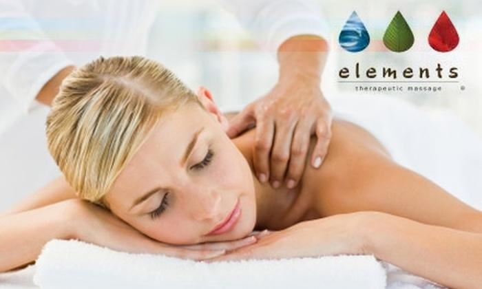 Elements Therapeutic Massage - Colorado Springs: $29 for a 55-Minute Massage at Elements Therapeutic Massage ($75 Value)