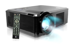Pyle Widescreen Led Projector With 1080p Full Hd Support