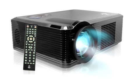 "Pyle Widescreen LED Projector With Up To 100"" Viewing Screen, Built-in Speakers, and 1080p Full HD Support bfd9297e-e8ca-11e6-b0d4-00259069d868"