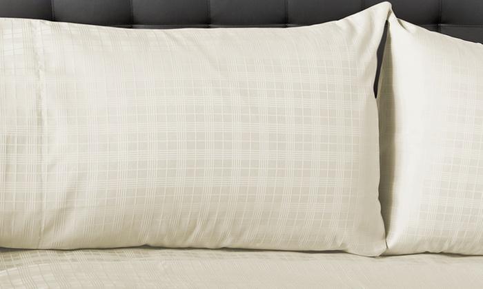 cottonova 800tc 100 egyptian cotton sateen dobby sheet set cottonova 800tc 100 egyptian - 100 Egyptian Cotton Sheets