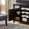 Amherst Tall TV Stand in Dark American Brown