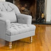 Nelson Tufted Fabric Arm Chair