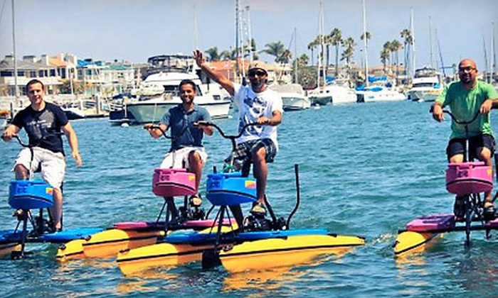Pacific Coast Hydrobikes - Newport Beach: One-Hour Hydrobike Rental for One or Two from Pacific Coast Hydrobikes (Half Off)