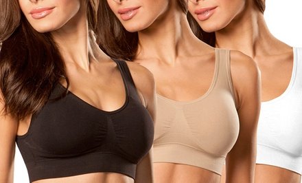 3-Pack of Seamless Padded Bras