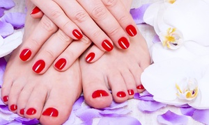 Mobilne Usługi Kosmetyczne: Manicure lub pedicure hybrydowy od 39,90 zł w salonie Mobilne Usługi Kosmetyczne w Toruniu