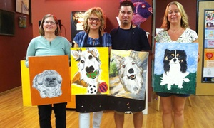 SunDust Gallery: BYOB Paint Your Pet Painting Class for One or Two at SunDust Gallery (Up to 51% Off)