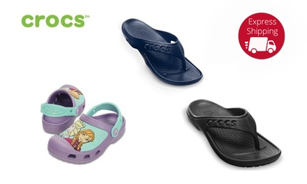 $15 for Crocs for Men and Women or Children in a Choice of Colour and Size Don't Pay up to $49.99