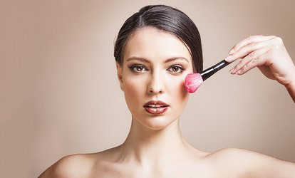 image for Make-Up Lesson or Hair and Makeup Package for One or Two at Blu Nuvo (Up to 62% off)
