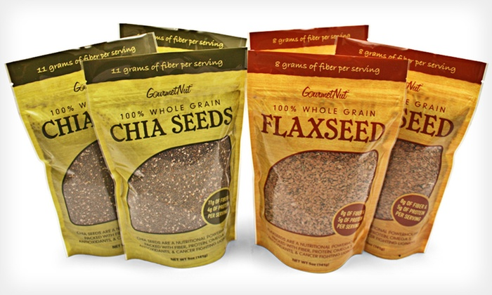 Gourmet Nut Chia and Flax Seed 6-Pack: $19.99 for a 6-Pack of Gourmet Nut Chia and Flax Seeds ($48.90 List Price). Free Shipping.