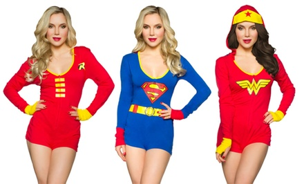 Undergirl x DC Comics Women's Lounge Romper with Removable Cape
