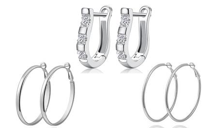 1 o 2 paia di orecchini Van Amstel in argento disponibili in 2 colori