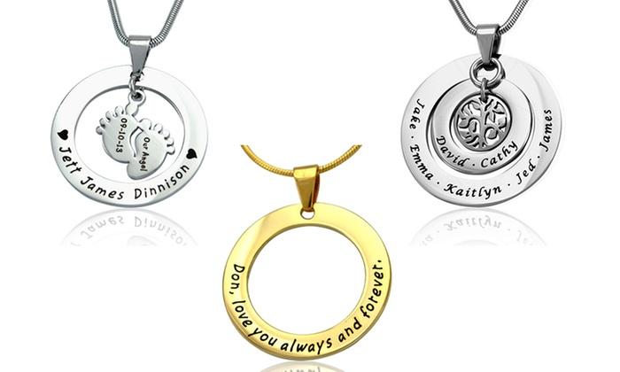 personalised daniella name pendant bar necklace