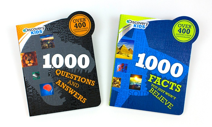 Discovery Kids 1,000 Facts 2-Book Bundle: Discovery Kids 1,000 Facts You Just Won't Believe and 1,000 Questions and Answers 2-Book Bundle