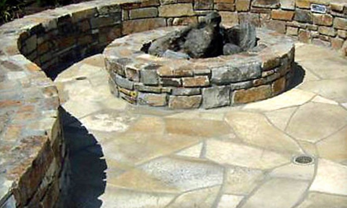 Hardscape Contractors - Sun City: Flagstone-Patio Installation with Optional Seat Wall or Fire Pit from Hardscape Contractors (Up to 57% Off)