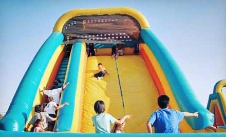 5 or 10 All-Day Bounce Visits or an Obstacle-Course Rental at Inflatable Fun Factory of Orange County (Up to 77% Off)