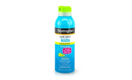 Neutrogena SPF 70 Wet Skin Sunblock Spray for Kids; 12-Pack of 5 Fl. Oz. Bottles + 5% Back in Groupon Bucks