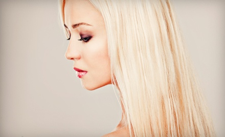 $34.99 for a Haircut and Style with Full Makeup Application at Hello Gorgeous ($105 Value)