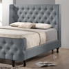 King- or Queen-Size Tufted Wingback Platform Bed