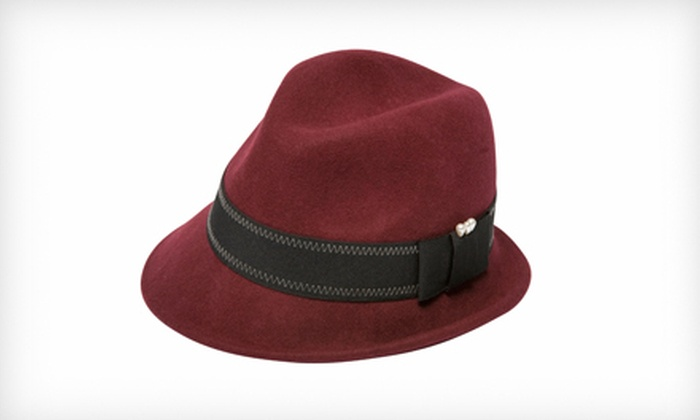 Goorin Bros. Women's Wilma Fedora in Maroon: $19 for a Women's Wilma Fedora in Maroon ($58 List Price). Three Sizes Available.