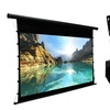 Favi Home-Theatre Package with Projector, Retractable Screen & Mount