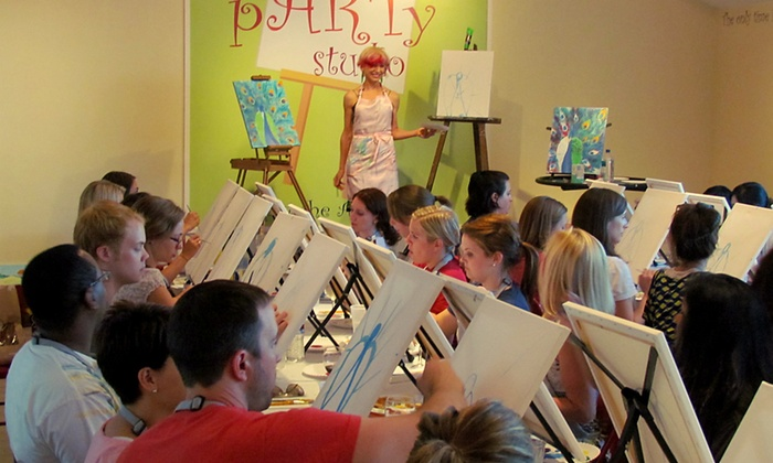 The Party Studio - Worthington: $18 for One Admission to Group BYOB Painting Class at The Party Studio ($35 Value)