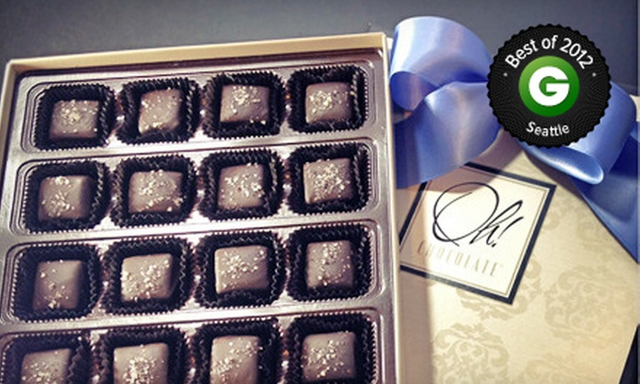 Oh! Chocolate - Multiple Locations: $13 for One Box of Fleur de Sel Caramel Chocolates at Oh! Chocolate ($26 Value)