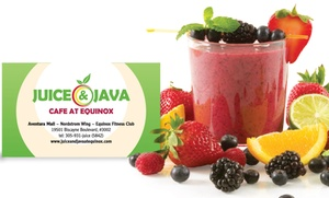 Juice & Java Cafe at Equinox: One-Year or Lifetime VIP CLUB Membership Card to Juice & Java Cafe at Equinox (54% Off)