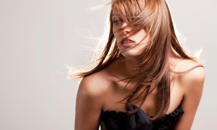 The Hairs Inn Salon - Terryville: Haircut Package with Blow-Dry Style and Optional Partial or Full Highlights at The Hairs Inn Salon (Up to 65% Off)
