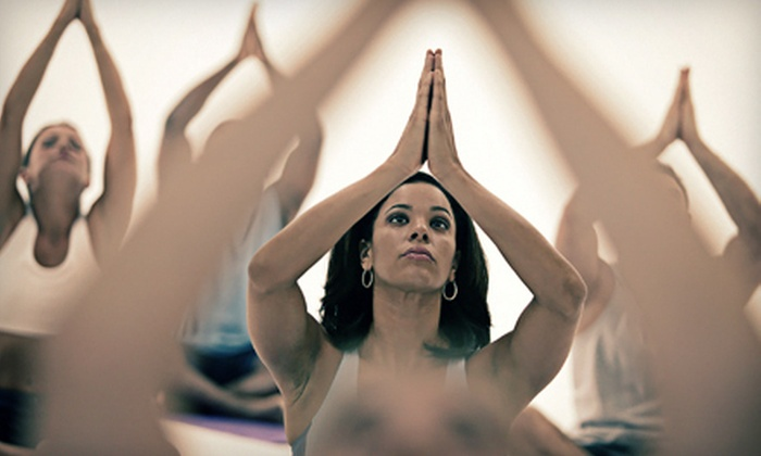 Blissful Yoga Studio - Multiple Locations: 5 or 10 Drop-In Classes or One Month of Unlimited Classes at Blissful Yoga Studio (Up to 69% Off)