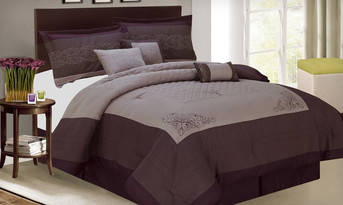 Luxury Bedding Seven-Piece Comforter Set: Luxury Bedding Seven-Piece Comforter Set in Queen or King (Half Off). Three Designs Available. Free Shipping & Returns.