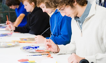 TwoHour Painting Lesson at Cork & Canvas JC (44% Off)