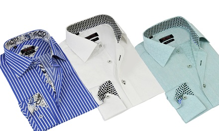 T.R. Premium Men's Slim Fit Dress Shirts