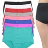 Women's High-Rise Girdle Panties in Regular and Plus Sizes (6-Pack)